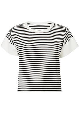 Striped Boxy Short Sleeve Top by J.Crew