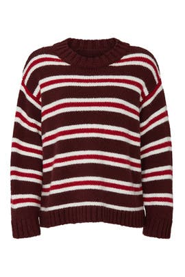The Striped Cozy Sweater by The Great.