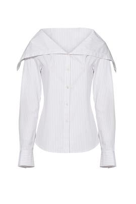 White Doherty Top by Theory