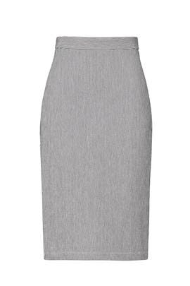 Pinstripe Pencil Skirt by Fifteen Twenty