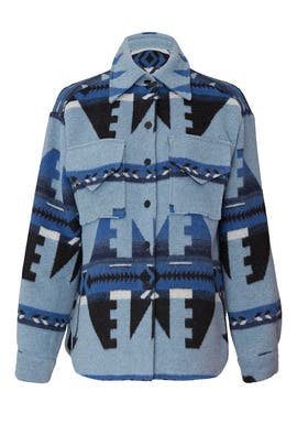 Blue Blanket Shirt Jacket by Fifteen Twenty