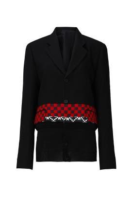Knitted Hem Jacket by Haider Ackermann