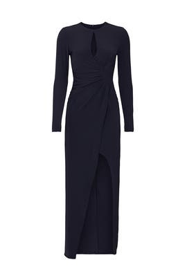 Navy Twist Front Gown by krisa