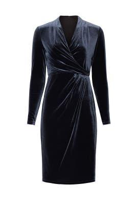 Grey Velvet Dress by Lauren Ralph Lauren