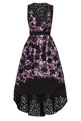 Dark Floral Alex Dress by ML Monique Lhuillier