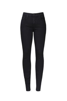 Black Super Stunner Ankle Jeans by MOTHER