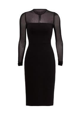 Black Imogen Ottoman Dress by Opening Ceremony