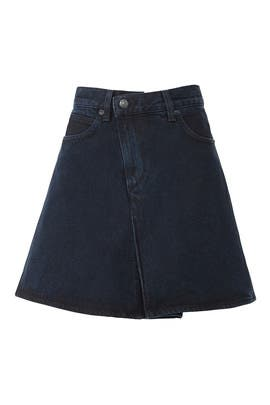 Denim Folded Skirt by Proenza Schouler White Label