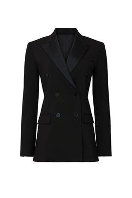 Black Wool Double Breasted Blazer by Theory