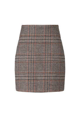 Brown Plaid Mini Skirt by Thakoon Collective