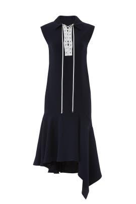 Lace Up Handkerchief Dress by ADEAM