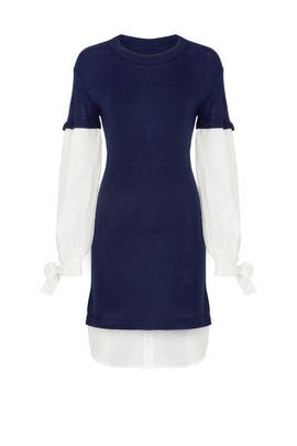 Navy Flare Dress by devlin