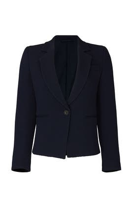 Stretch Wool One Button Jacket by Emporio Armani