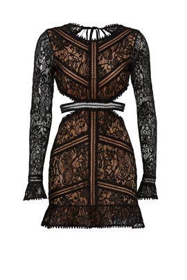 Black Emerie Cut Out Dress by For Love and Lemons