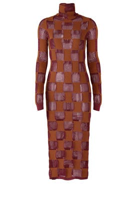 Sheer Ruby Checkered Dress by Marni