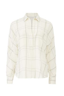 Bar Plaid Popover by VINCE.