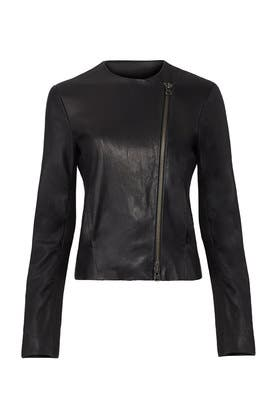 Washed Leather Jacket by VINCE.