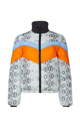 Wesley Printed Puffer Coat by Central Park West