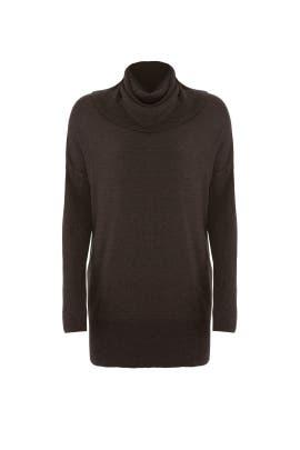Anthracite Cowl Neck Sweater by Josie Natori