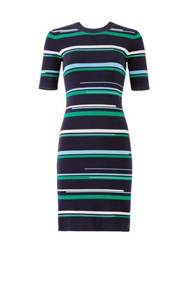 Multi Striped Knit Dress by Jason Wu