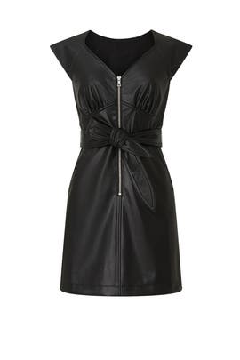 Faux Leather Zip Dress by Marissa Webb Collective
