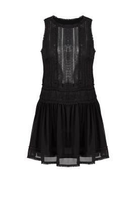 Black Panelled Lace Dress by Nicholas