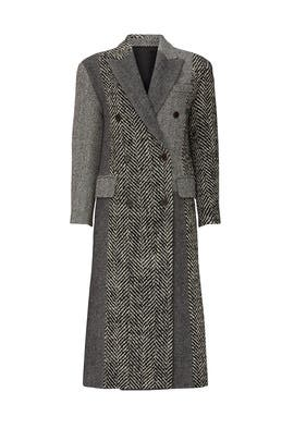 Multi Herringbone Coat by SJYP