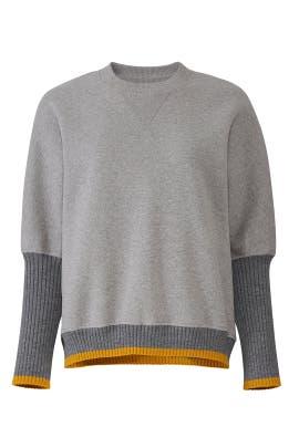Rib Sleeve Sweatshirt by Victoria Victoria Beckham