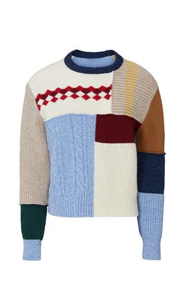 Wool Patchwork Sweater by Alexa Chung