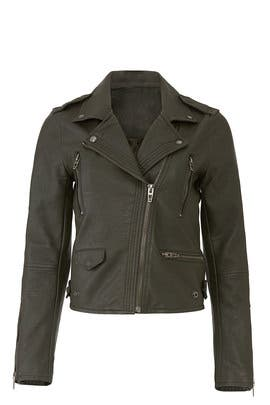 Green Faux Leather Jacket by BlankNYC