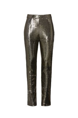 Gold Sequin Pants by Badgley Mischka