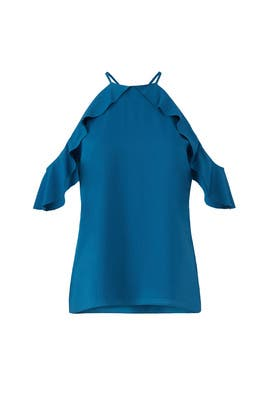 Blue Saga Ruffle Top by Cooper & Ella