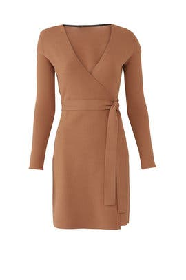 Walnut Knit Wrap Dress by Diane von Furstenberg