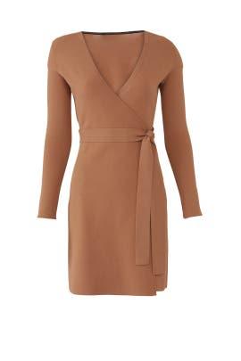 d11ab419f80 Walnut Knit Wrap Dress by Diane von Furstenberg