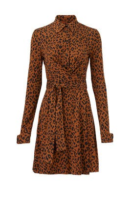 Leopard Side Tie Shirtdress by Diane von Furstenberg