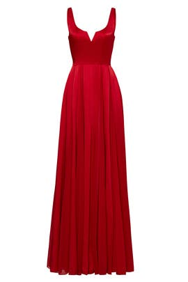 1e172f4534f Red Meaghan Gown by Halston Heritage for  100