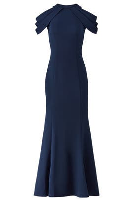 Loop Shoulder Gown by LM Collection