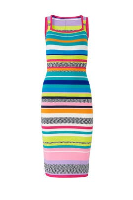 Spacedye Rainbow Stripe Dress by Milly