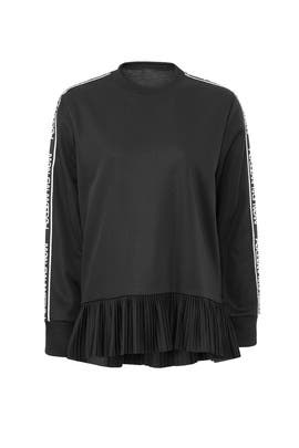 Pleated Peplum Sweatshirt by RED Valentino