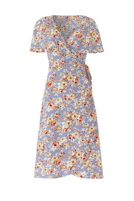 Blue Floral Wrap Dress by Slate & Willow