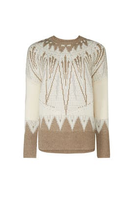 Fair Isle Crew Neck Sweater by Adam Lippes Collective