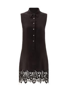 Black Lace Hem Lucida Dress by Equipment