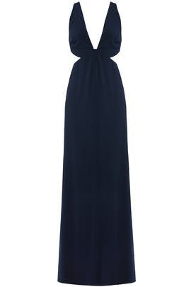 Navy Cutout Gown by Halston Heritage
