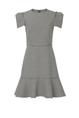 Houndstooth Short Sleeve Dress by Jason Wu