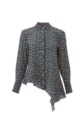 Peacock Floral Printed Blouse by Nanette Lepore