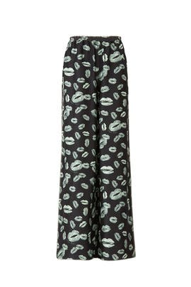 Lip Printed Flare Pants by Nina Ricci
