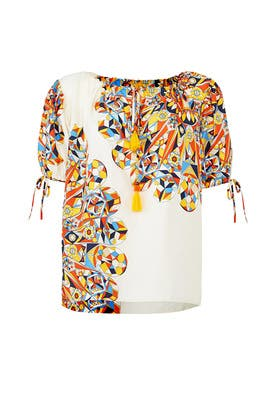 Geo Print Alyssa Top by Tory Burch