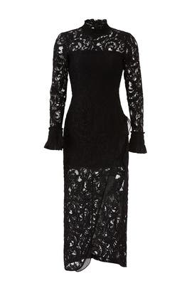 Black Fala Lace Dress by Alexis