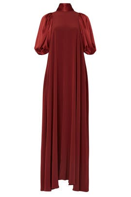 Puff Sleeve High Neck Gown by Co