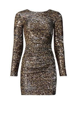 Lolita Leopard Sequin Sheath by Dress The Population